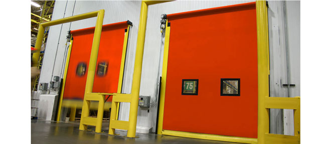 two interior industrial doors